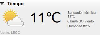 Condicións meteorolóxicas.